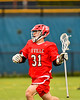 Baldwinsville Bees Braden McCard (31) cradling the ball against the West Genesee Wildcats in Section III Boys Lacrosse action at Mike Messere Field in Camillus, New York on Thursday, May 9, 2019. Baldwinsville won 14-10.