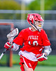 Baldwinsville Bees Spencer Wirtheim (10) with the ball against the West Genesee Wildcats in Section III Boys Lacrosse action at Mike Messere Field in Camillus, New York on Thursday, May 9, 2019. Baldwinsville won 14-10.