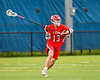 Baldwinsville Bees Braden Lynch (13) looking to make a pass against the West Genesee Wildcats in Section III Boys Lacrosse action at Mike Messere Field in Camillus, New York on Thursday, May 9, 2019. Baldwinsville won 14-10.