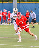Baldwinsville Bees Jake Walsh (4) comes up with the ball against the West Genesee Wildcats in Section III Boys Lacrosse action at Mike Messere Field in Camillus, New York on Thursday, May 9, 2019. Baldwinsville won 14-10.