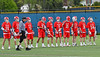 The starting line-up for the Baldwinsville Bees before playing the West Genesee Wildcats in a Section III Boys Lacrosse game at Mike Messere Field in Camillus, New York on Thursday, May 9, 2019.