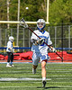 Westhill Warriors Wyatt Lavigne (19) passing the ball against the Homer Trojans in a Section III Class C Boys Lacrosse playoff action in Syracuse, New York on Saturday, May 18, 2019. Westhill won 14-4.