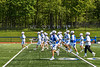 Westhill Warriors warming up before playing the Homer Trojans in a Section III Class C Boys Lacrosse playoff game in Syracuse, New York on Saturday, May 18, 2019.