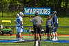 Referee goes over the ground rules before the Westhill Warriors played the Homer Trojans in a Section III Class C Boys Lacrosse playoff game in Syracuse, New York on Saturday, May 18, 2019.