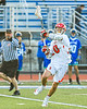 Baldwinsville Bees Spencer Wirtheim (10) with the ball against the Cicero-North Syracuse Northstars in Section III Class A Semifinals Boys Lacrosse action at Michael Bragman Stadium in Cicero, New York on Tuesday, May 21, 2019. Baldwinsville won 7-4.
