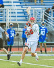 Baldwinsville Bees Spencer Wirtheim (10) running with the ball against the Cicero-North Syracuse Northstars in Section III Class A Semifinals Boys Lacrosse action at Michael Bragman Stadium in Cicero, New York on Tuesday, May 21, 2019. Baldwinsville won 7-4.