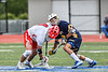 West Genesee Wildcats Vincent Calabria (3) facing off against Baldwinsville Bees Jake Walsh (4) in Section III Class A Finals Boys Lacrosse action at Michael Bragman Stadium in Cicero, New York on Friday, May 24, 2019. Baldwinsville won 18-6.