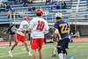 Baldwinsville Bees Brendan Wilcox (22) shoots and scores against the West Genesee Wildcats in Section III Class A Finals Boys Lacrosse action at Michael Bragman Stadium in Cicero, New York on Friday, May 24, 2019. Baldwinsville won 18-6.