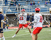 Baldwinsville Bees Brendan Wilcox (22) winding up for a shot at the West Genesee Wildcats net in Section III Class A Finals Boys Lacrosse action at Michael Bragman Stadium in Cicero, New York on Friday, May 24, 2019. Baldwinsville won 18-6.