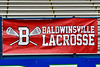 Banner for the Baldwinsville Bees at the  Section III Class A Finals Boys Lacrosse game at Michael Bragman Stadium in Cicero, New York on Friday, May 24, 2019.