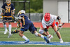 West Genesee Wildcats Vincent Calabria (3) wins a face-off against Baldwinsville Bees Jake Walsh (4) in Section III Class A Finals Boys Lacrosse action at Michael Bragman Stadium in Cicero, New York on Friday, May 24, 2019. Baldwinsville won 18-6.