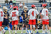 West Genesee Wildcats and Baldwinsville Bees players shake hands before plying in the Section III Class A Finals Boys Lacrosse game at Michael Bragman Stadium in Cicero, New York on Friday, May 24, 2019.