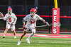 Baldwinsville Bees Tucker Macknik (14) with the ball against the West Genesee Wildcats in Section III Boys Lacrosse action at the Pelcher-Arcaro Stadium in Baldwinsville, New York on Tuesday, May 4, 2021. Baldwinsville won 11-4.