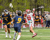 Baldwinsville Bees Trey Ordway (33) winds up for a shot against the West Genesee Wildcats in Section III Boys Lacrosse action at the Pelcher-Arcaro Stadium in Baldwinsville, New York on Tuesday, May 4, 2021. Baldwinsville won 11-4.