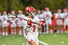 Baldwinsville Bees Jacob Czyz (7) with the ball against the West Genesee Wildcats in Section III Boys Lacrosse action at the Pelcher-Arcaro Stadium in Baldwinsville, New York on Tuesday, May 4, 2021. Baldwinsville won 11-4.