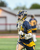 West Genesee Wildcats Ryan Mahoney (30) cradling the ball against the Baldwinsville Bees in Section III Boys Lacrosse action at the Pelcher-Arcaro Stadium in Baldwinsville, New York on Tuesday, May 4, 2021. Baldwinsville won 11-4.