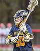 West Genesee Wildcats Ryan Mahoney (30) looking to make a play against the Baldwinsville Bees in Section III Boys Lacrosse action at the Pelcher-Arcaro Stadium in Baldwinsville, New York on Tuesday, May 4, 2021. Baldwinsville won 11-4.
