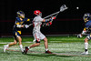Baldwinsville Bees Lucas Hoskin (16) shoots and scores against the West Genesee Wildcats in Section III Boys Lacrosse action at the Pelcher-Arcaro Stadium in Baldwinsville, New York on Tuesday, May 4, 2021. Baldwinsville won 11-4.