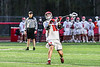 Baldwinsville Bees Lucas Hoskin (16) winding up and firing a shot at the West Genesee Wildcats net in Section III Boys Lacrosse action at the Pelcher-Arcaro Stadium in Baldwinsville, New York on Tuesday, May 4, 2021. Baldwinsville won 11-4.
