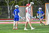 Baldwinsville Bees Colin Socker (26) celebrates his goal against the Cicero-North Syracuse Northstars in Section III Boys Lacrosse action at the Pelcher-Arcaro Stadium in Baldwinsville, New York on Tuesday, May 11, 2021. Baldwinsville won 17-6.
