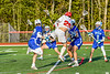 Baldwinsville Bees Michael Marsallo (29) after scoring a goal against the Cicero-North Syracuse Northstars in Section III Boys Lacrosse action at the Pelcher-Arcaro Stadium in Baldwinsville, New York on Tuesday, May 11, 2021. Baldwinsville won 17-6.