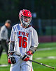 Baldwinsville Bees Lucas Hoskin (16) after scoring a goal against the Cicero-North Syracuse Northstars in Section III Boys Lacrosse action at the Pelcher-Arcaro Stadium in Baldwinsville, New York on Tuesday, May 11, 2021. Baldwinsville won 17-6.