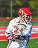 Baldwinsville Bees Michael Marsallo (29) with the ball against the Cicero-North Syracuse Northstars in Section III Boys Lacrosse action at the Pelcher-Arcaro Stadium in Baldwinsville, New York on Tuesday, May 11, 2021. Baldwinsville won 17-6.