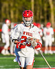 Baldwinsville Bees Colin Doyle (23) before a face-off against the Cicero-North Syracuse Northstars in Section III Boys Lacrosse action at the Pelcher-Arcaro Stadium in Baldwinsville, New York on Tuesday, May 11, 2021. Baldwinsville won 17-6.