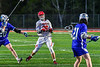 Baldwinsville Bees Colin Socker (26) releasing a shot at the Cicero-North Syracuse Northstars net in Section III Boys Lacrosse action at the Pelcher-Arcaro Stadium in Baldwinsville, New York on Tuesday, May 11, 2021. Baldwinsville won 17-6.