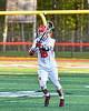Baldwinsville Bees Lucas Hoskin (16) passing the ball against the Cicero-North Syracuse Northstars in Section III Boys Lacrosse action at the Pelcher-Arcaro Stadium in Baldwinsville, New York on Tuesday, May 11, 2021. Baldwinsville won 17-6.