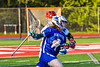 Cicero-North Syracuse Northstars Mason Blakeman (7) with the ball against a Baldwinsville Bees defender in Section III Boys Lacrosse action at the Pelcher-Arcaro Stadium in Baldwinsville, New York on Tuesday, May 11, 2021. Baldwinsville won 17-6.