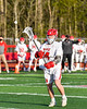 Baldwinsville Bees David Mahar (24) passing the ball against the Cicero-North Syracuse Northstars in Section III Boys Lacrosse action at the Pelcher-Arcaro Stadium in Baldwinsville, New York on Tuesday, May 11, 2021. Baldwinsville won 17-6.