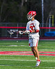 Baldwinsville Bees Trey Ordway (33) about to drive the net against the Cicero-North Syracuse Northstars in Section III Boys Lacrosse action at the Pelcher-Arcaro Stadium in Baldwinsville, New York on Tuesday, May 11, 2021. Baldwinsville won 17-6.