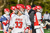 Baldwinsville Bees Trey Ordway (33) before playing the Cicero-North Syracuse Northstars in a Section III Boys Lacrosse game at the Pelcher-Arcaro Stadium in Baldwinsville, New York on Tuesday, May 11, 2021.