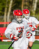 Baldwinsville Bees Jacob Czyz (7) before playing the Cicero-North Syracuse Northstars in a Section III Boys Lacrosse game at the Pelcher-Arcaro Stadium in Baldwinsville, New York on Tuesday, May 11, 2021.