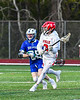 Baldwinsville Bees Leo Johnson (3) looking to make a play against the Cicero-North Syracuse Northstars in Section III Boys Lacrosse action at the Pelcher-Arcaro Stadium in Baldwinsville, New York on Tuesday, May 11, 2021. Baldwinsville won 17-6.