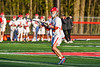 Baldwinsville Bees Trey Ordway (33) looking to make a play against the Cicero-North Syracuse Northstars in Section III Boys Lacrosse action at the Pelcher-Arcaro Stadium in Baldwinsville, New York on Tuesday, May 11, 2021. Baldwinsville won 17-6.