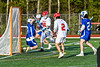 Baldwinsville Bees Lucas Hoskin (16) scores a goal against the Cicero-North Syracuse Northstars in Section III Boys Lacrosse action at the Pelcher-Arcaro Stadium in Baldwinsville, New York on Tuesday, May 11, 2021. Baldwinsville won 17-6.