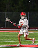Baldwinsville Bees Jacob Czyz (7) with the ball against the Cicero-North Syracuse Northstars in Section III Boys Lacrosse action at the Pelcher-Arcaro Stadium in Baldwinsville, New York on Tuesday, May 11, 2021. Baldwinsville won 17-6.