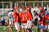 Baldwinsville Bees Michael Marsallo (29) celebrates his goal against the Liverpool Warriors in Section III Boys Lacrosse action at Liverpool High School Stadium in Liverpool, New York on Thursday, May 13, 2021. Baldwinsville won 17-3.