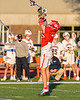 Baldwinsville Bees Trey Ordway (33) jumping for the ball against the Liverpool Warriors in Section III Boys Lacrosse action at Liverpool High School Stadium in Liverpool, New York on Thursday, May 13, 2021. Baldwinsville won 17-3.