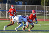 Baldwinsville Bees Jacob Czyz (7) facing off against Liverpool Warriors Jalen Graham (12) in Section III Boys Lacrosse action at Liverpool High School Stadium in Liverpool, New York on Thursday, May 13, 2021. Baldwinsville won 17-3.