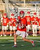 Baldwinsville Bees Trey Ordway (33) passing the ball against the Liverpool Warriors in Section III Boys Lacrosse action at Liverpool High School Stadium in Liverpool, New York on Thursday, May 13, 2021. Baldwinsville won 17-3.