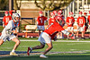 Baldwinsville Bees Jacob Czyz (7) with the ball after a face-off against the Liverpool Warriors in Section III Boys Lacrosse action at Liverpool High School Stadium in Liverpool, New York on Thursday, May 13, 2021. Baldwinsville won 17-3.