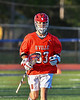 Baldwinsville Bees Trey Ordway (33) on the field against the Liverpool Warriors in Section III Boys Lacrosse action at Liverpool High School Stadium in Liverpool, New York on Thursday, May 13, 2021. Baldwinsville won 17-3.