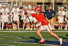 Baldwinsville Bees Jacob Czyz (7) with the ball against the Liverpool Warriors in Section III Boys Lacrosse action at Liverpool High School Stadium in Liverpool, New York on Thursday, May 13, 2021. Baldwinsville won 17-3.