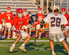 Baldwinsville Bees Ryan Quinn (1) with the ball against the Liverpool Warriors in Section III Boys Lacrosse action at Liverpool High School Stadium in Liverpool, New York on Thursday, May 13, 2021. Baldwinsville won 17-3.
