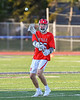 Baldwinsville Bees Colin Socker (26) passing the ball against the Liverpool Warriors in Section III Boys Lacrosse action at Liverpool High School Stadium in Liverpool, New York on Thursday, May 13, 2021. Baldwinsville won 17-3.