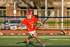 Baldwinsville Bees Brayden Penafeather-Stevenson (21) running with the ball against the Liverpool Warriors in Section III Boys Lacrosse action at Liverpool High School Stadium in Liverpool, New York on Thursday, May 13, 2021. Baldwinsville won 17-3.