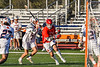 Baldwinsville Bees Michael Marsallo (29) cutting in on goal against the Liverpool Warriors in Section III Boys Lacrosse action at Liverpool High School Stadium in Liverpool, New York on Thursday, May 13, 2021. Baldwinsville won 17-3.